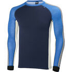 Helly Hansen Warm Ice Crew Mens Base Layer Top - Cobalt Blue All Sizes