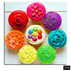 Cupcakes  colour  Food Kitchen BOX FRAMED CANVAS ART Picture HDR 280gsm