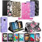 Leather Phone Wallet Card &Money Stand Holder Case Cover For Samsung LG HTC