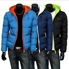 Men's Winter casual thick warm coat jacket cotton-padded outwear