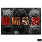 Herbs Spices Indian   Food Kitchen BOX FRAMED CANVAS ART Picture HDR 280gsm