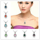 New Fashion Women Noble Statement Bright Crystal Chain Charm Pendant Necklace