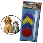 SET OF 4 PET FOOD CAN COVERS CAT DOG REUSABLE PLASTIC LIC COVER AND SPOON CLEAN