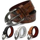 New Men Metal Buckle Leather Vintage Classic Pin Buckle Belt Waistband Strap
