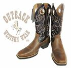 Ariat Men's Brown Black Sport Square Toe Cowboy Boots 10015314