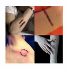 HALLOWEEN Zombie SCARS TATTOOS FAKE SCAB BLOOD SPECIAL Sticker COSTUME MAKE-UP