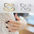 Elegant Appearance New Hot Chic Grace Cross Stereo Surround Alloy Rings Hollow