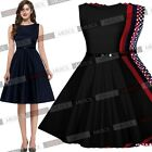 Womens Vintage Swing Formal Wedding Evening Party Prom Skater Bridesmaid Dresses