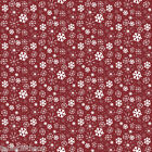 CHRISTMAS SNOWY RED WIPE CLEAN OILCLOTH COVER PVC TABLE CLOTH CO click for sizes