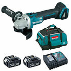 MAKITA 18V LXT DGA454 DGA454Z ANGLE GRINDER AND 2 x BL1840, 1 x DC18RC, 1 x BAG