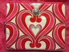 BRIGHTON Twirly Hearts tablet tech case pouch NEW with TAG