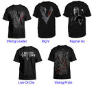 Authentic Vikings TV Show Adult Men T-Shirt Black S-2XL 100% Cotton