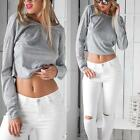 Women Casual Long Sleeve Backless Sexy Blouse T-shirt Ladies Crop Blouse Top G57