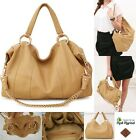 Custom Handmade Classic Designer Fashion Genuine Leather 'Hobo' Handbag - Cream