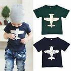 1-6Y Toddler Baby/Kids Boys Novelty Funny Cotton Short Sleeve T-Shirt Blouse A44