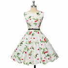 Vintage 50s 60s Swing Retro Pinup Housewife Cocktail Party PROM Dress
