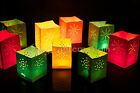 Candle Bags - 12 Mini Assorted Coloured Candle Bags