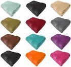 FAUX FUR FLEECE THROW SOFT WARM MINK LARGE SOFA BED BLANKET 10 COLOURS 4 SIZES