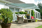 3.5m Wide x 4m XL Projection Half Cassette Manual Patio Awning Sun Shade Canopy