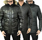 Mens Designer Voi Jacket Warm Puffer Bubble Quilted Leather Smart Military Coats