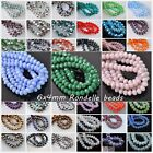 50pcs 6mm Rondelle Faceted Crystal Glass Loose Spacer Beads 114 Colors for Pic