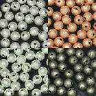 Round Frost Metal Spacer Bead Seamless 3mm 4mm 5mm 6mm 8mm 10mm 12mm