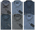 New Mens Long Sleeve Yarn Dyed Polycotton Striped Shirt M - 2xl By Tom Hagan