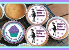 24 PERSONALISED BABY SHOWER  BOY/GIRL CUPCAKE TOPPER RICE, WAFER or ICING BS01