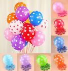 "10 Polka Dots Spots Spotty 12"" LATEX BALLOONS Birthday Party Decoration Supplie"