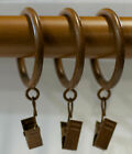 """Curtain Drapery Rod Clip Rings - Set of 14 - Two Colors - 1 5/8"""""""