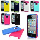For Apple iPhone 4 4S 4G Combo Hard Soft Hybrid Shockproof Dirt Dust Proof Case