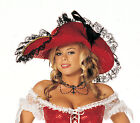 Halloween/Costume Accessory: Sequin Buccaneer Hat: Red: Shirley of Hollywood