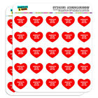 "1"" Scrapbooking Crafting Stickers I Love Heart Sports Hobbies A-B"