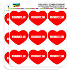 """2"""" Scrapbooking Crafting Stickers I Love Heart City State L-N"""