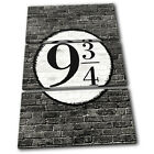 Kings Cross BW Platform 9 3/4  Typography CANVAS WALL ART Picture Print VA