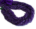 """Z-0002 Natural Amethyst Gemstone Rondelle Faceted Beads 13.5"""" Strand Wholesale $"""