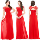 New Chiffon Lace Long DRESS Bridesmaid Formal Party Gown Ball Evening Prom Dress