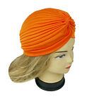 Women Stretchy Turban Head Wrap Band Chemo Bandana Hijab Pleated Indian Cap Hat