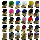 Внешний вид - Women Stretchy Turban Head Wrap Band Chemo Bandana Hijab Pleated Indian Cap Hat