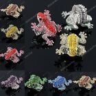 1PC Bling Crystal Rhinestone Beads Frog Elastic Stretchy Finger Ring US9 Jewelry