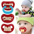 Funny Mustache Baby Boy Girl Infant Pacifier Orthodontic Dummy Ring Nipples
