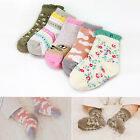 "Vaenait Baby Korea Toddler Kids 1T-7T Socks Anti Slip 5Set ""Girls Pattern Set"""