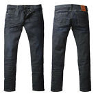 Mens Designer 883 Police Jeans Laker Activeflex Stretch Slim Fit Dark Wash Denim