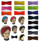 Внешний вид - Twisted Hair Wrap Headband Stretchable Turban Yoga Hairband Fashion Solid Color
