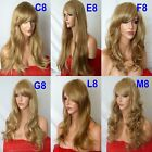 DARK BLONDE Curly Layered FULL WOMEN LADIES FASHION HAIR WIG Fancy dress wigs