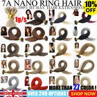 "16""-22"" Nano Ring Tip 1 GRAM 100% Remy Double Drawn Human Hair Extensions 1g UK"