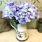 1x Stem Large Artificial Silk Hydrangea Flowers Plant Bouquet Decor 5 Colors