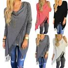 Stylish Tassel Women's Loose Cardigan Shirt Long Sleeve Fashion Tops Coat Blouse