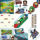 Thomas the Train Tank Engine Sheet Set Or Wall Decals - Boys Kids Bedroom Accent