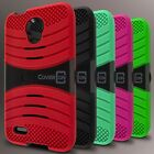 For ALCATEL One Touch Conquest Case - Hybrid Heavy Duty Tough Stand Phone Cover